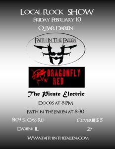 FITF Rocks Q Bar Darien February 10th, Faith in the Fallen
