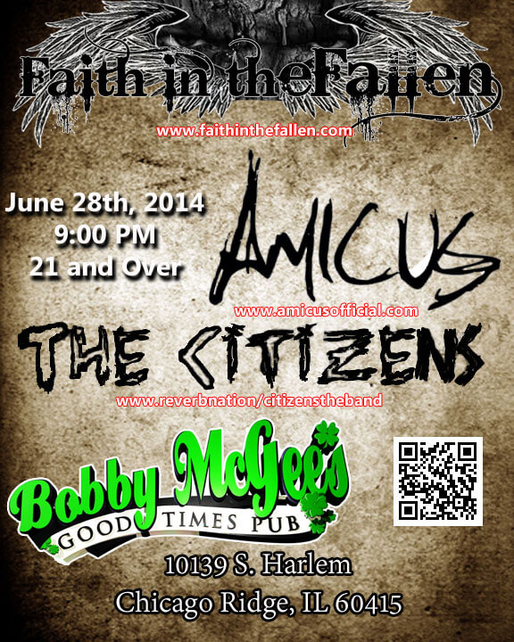 Faith in the Fallen, Amicus, and The Citizens 6/28 @ Bobby McGee's in Chicago Ridge